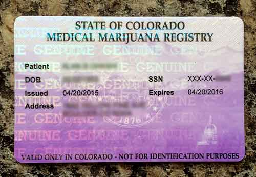 medical cannabis in Colorado card