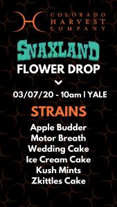 Snaxland flower drop strains
