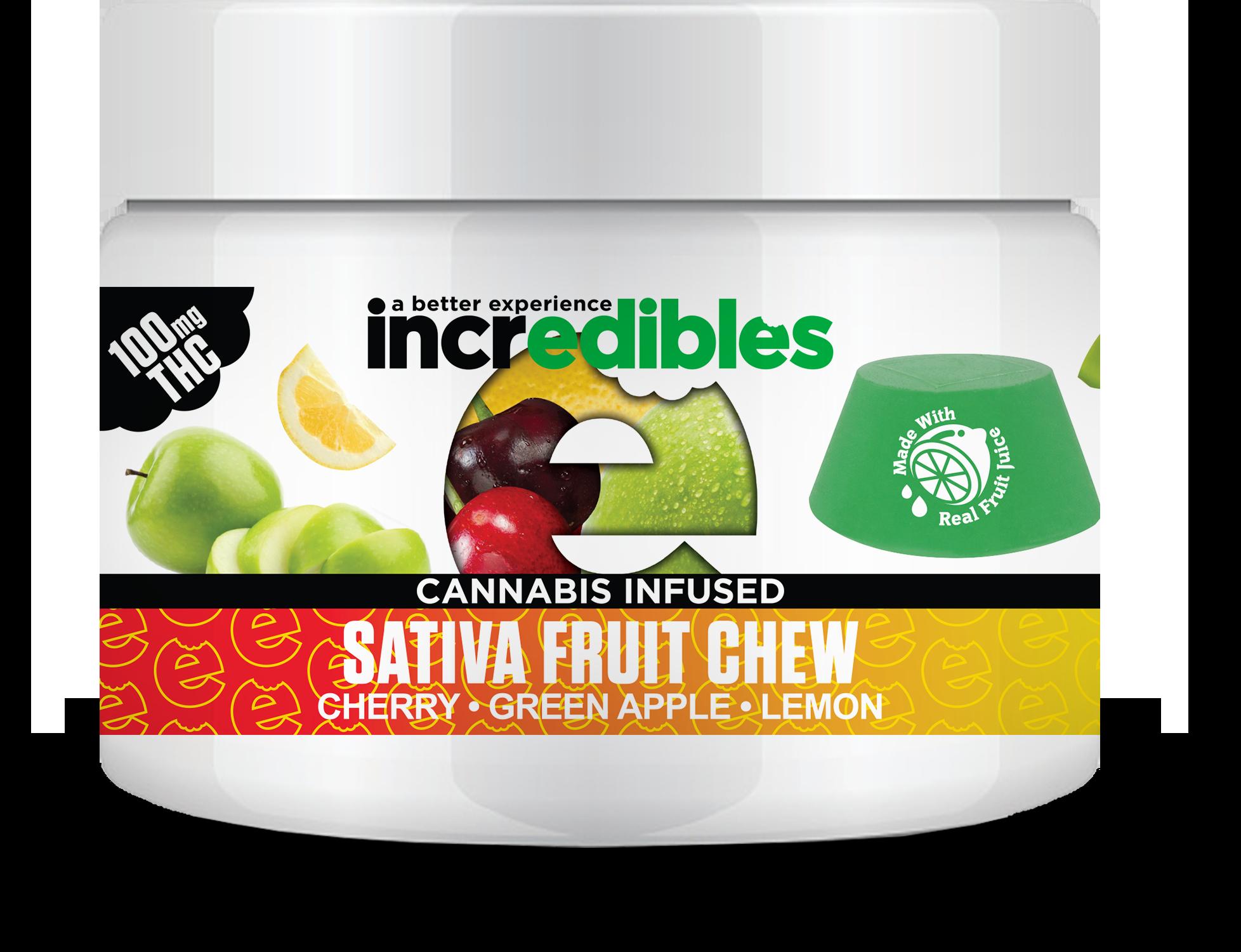 Incredibles Gummies - Sativa Fruit Chew