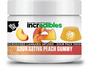 Incredibles Gummies - Sour Sativa Peach Gummy