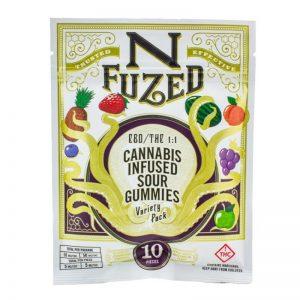 NFuzed Cannabis Infused Sour Gummies CBD THC