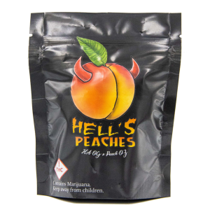 hells peaches exotic strain bag