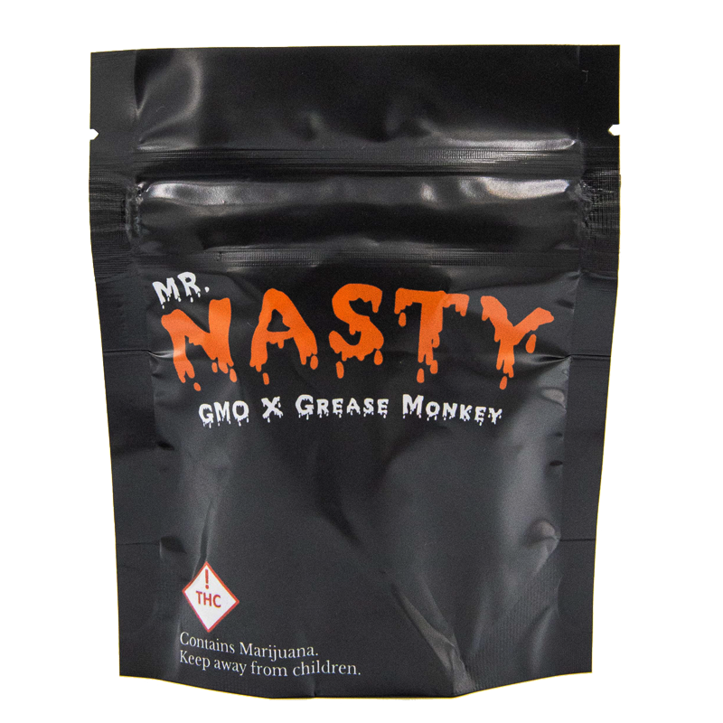 mr.nasty exotic strain cannabis bag