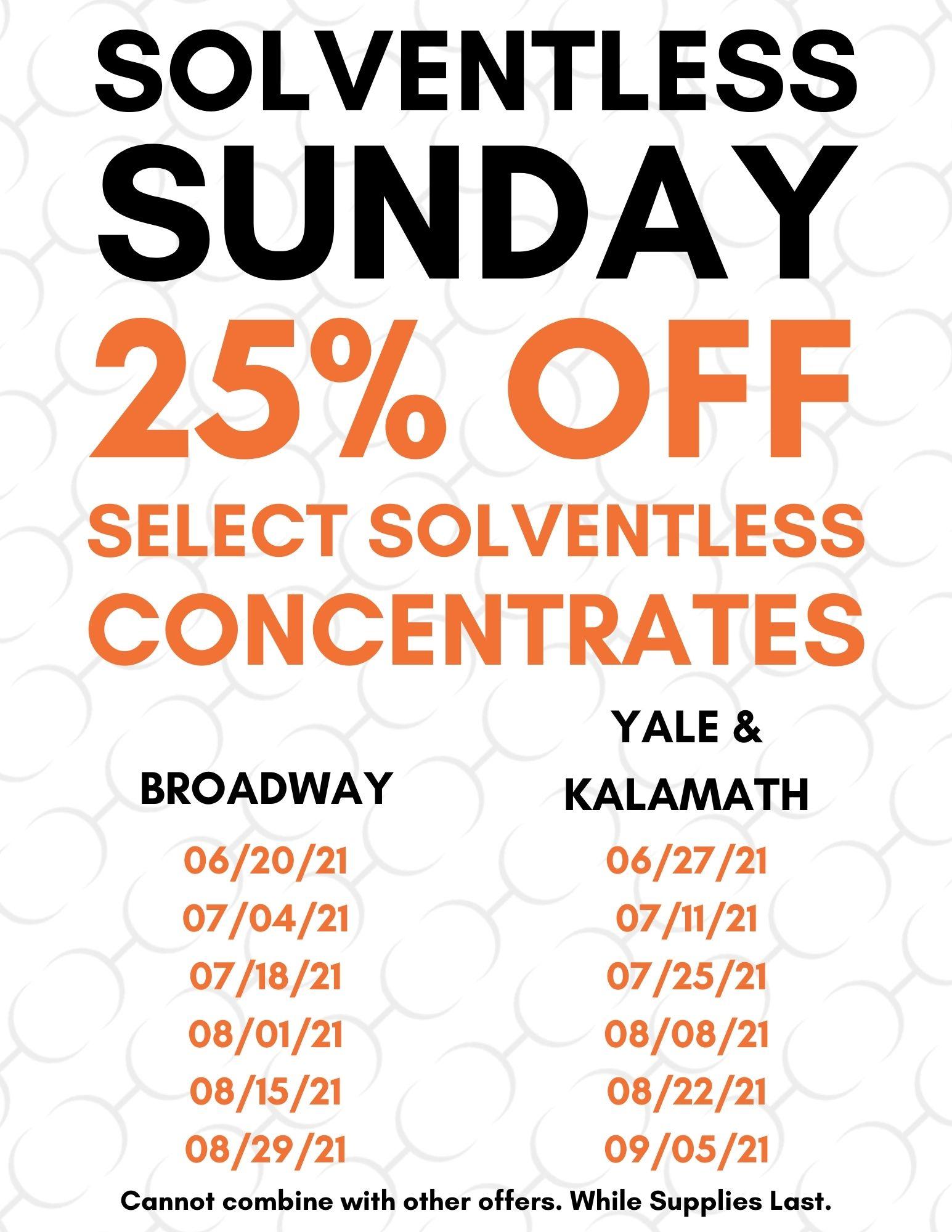 Solventless Sunday Schedule 01.06.21