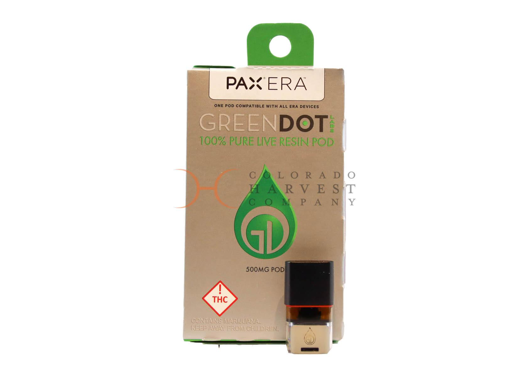Green Dot Pax Pod Menu Photo