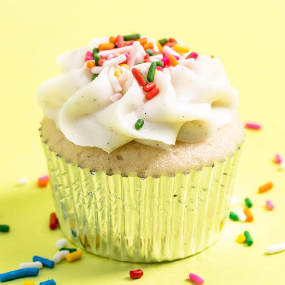 cannabis vanilla cupcakes