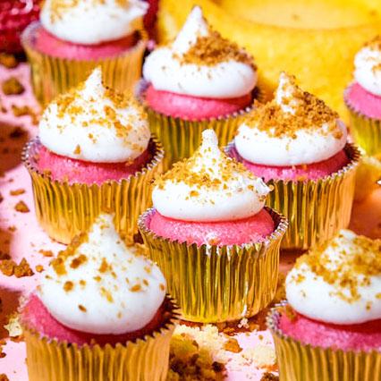 cannabis Strawberry shortcake mini cupcake