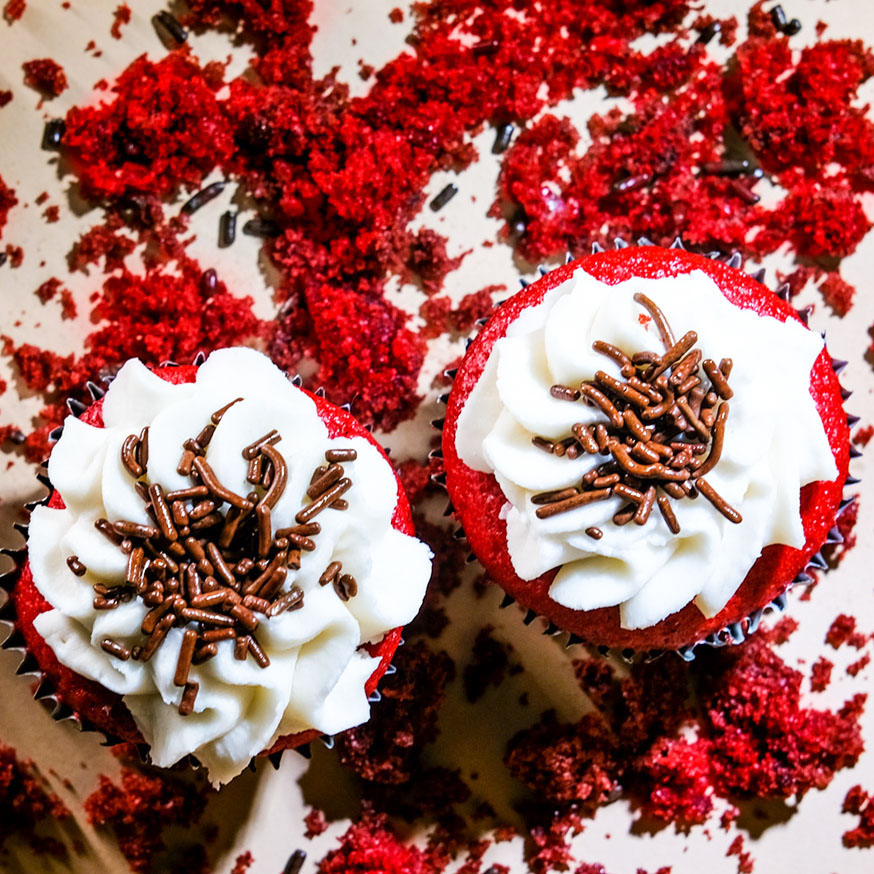 cannabis red velvet cupcake