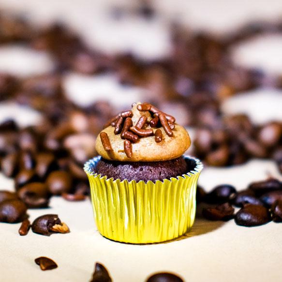 cannabis mini mocha cupcake