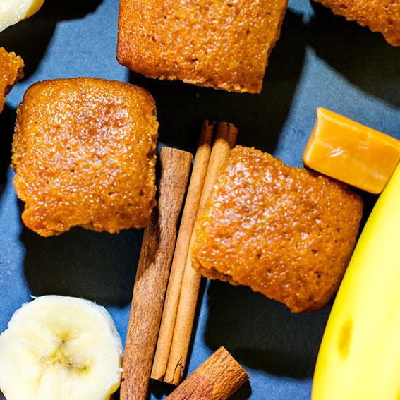 Cannabis banana caramel pound cake